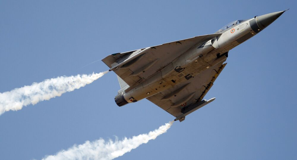 Tejas, an Indian Air Force light combat aircraft
