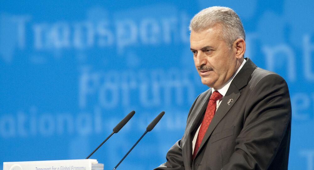 Turkey's Minister of Transport Binali Yildirim (File)