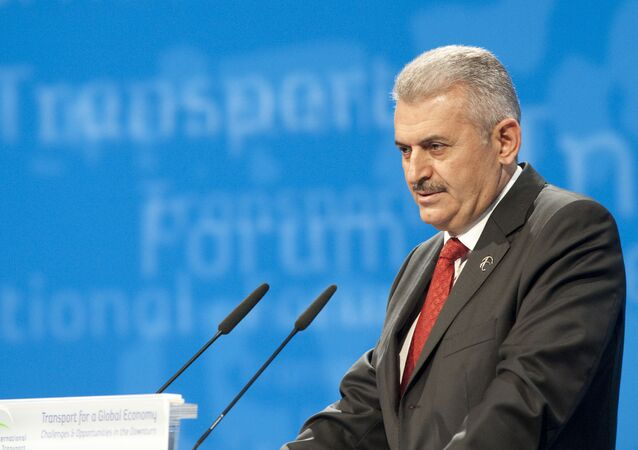 Turkey's Minister of Transport Binali Yildirim (File)