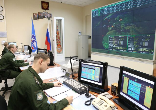 The operations control room of the Voronezh radar, a Russian over-the-horizon early warning highly-prefabricated radar station