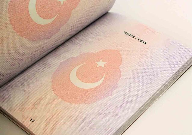 A page from a Turkish biometric passport