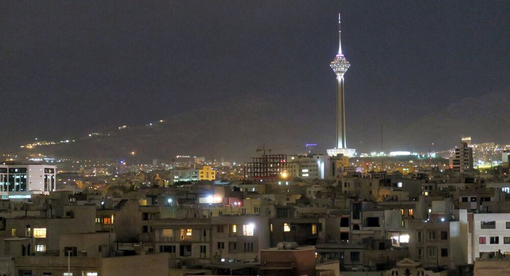 A view shows Tehran's skyline at night with the Milad tower, the sixth tallest tower in the world, Iran May 3, 2016