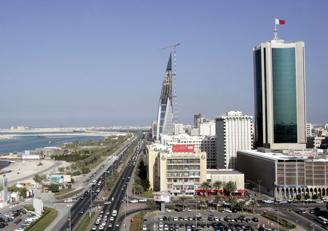 A general view shows the Bahraini Chamber of Commerce and Industry (C) in Manama (File)