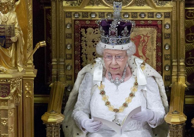 Britain's Queen Elizabeth II delivers the Queen's Speech during the State Opening of Parliament in central London, on May 18, 2016