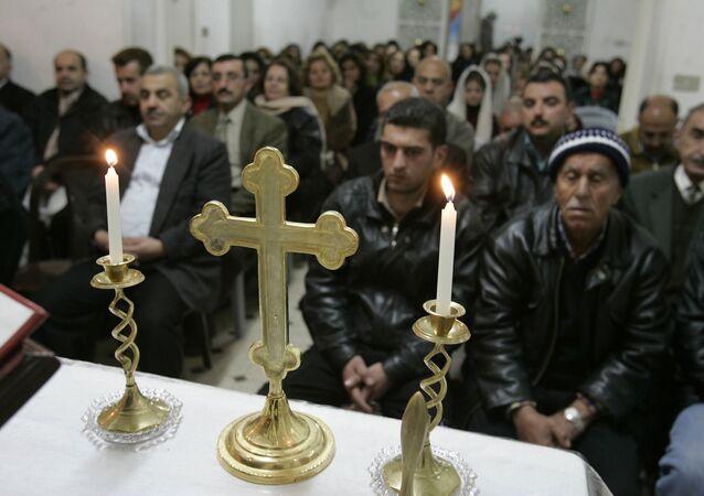 Iraqi Chaldean Catholic worshipers (File)