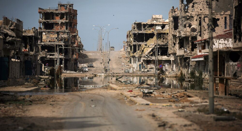 General view of buildings ravaged by fighting in Sirte, Libya (File)