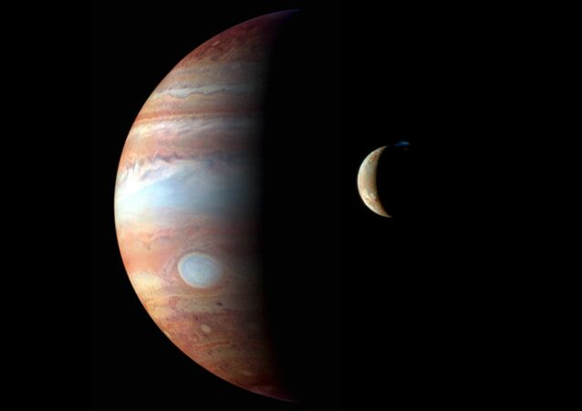 Jupiter and its moon