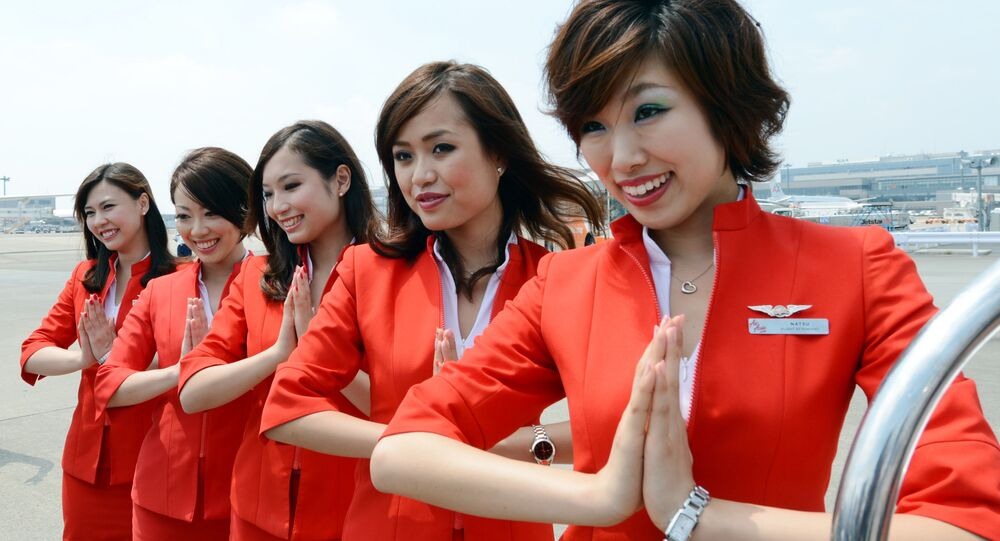 Air Asia Japan's cabin attendants