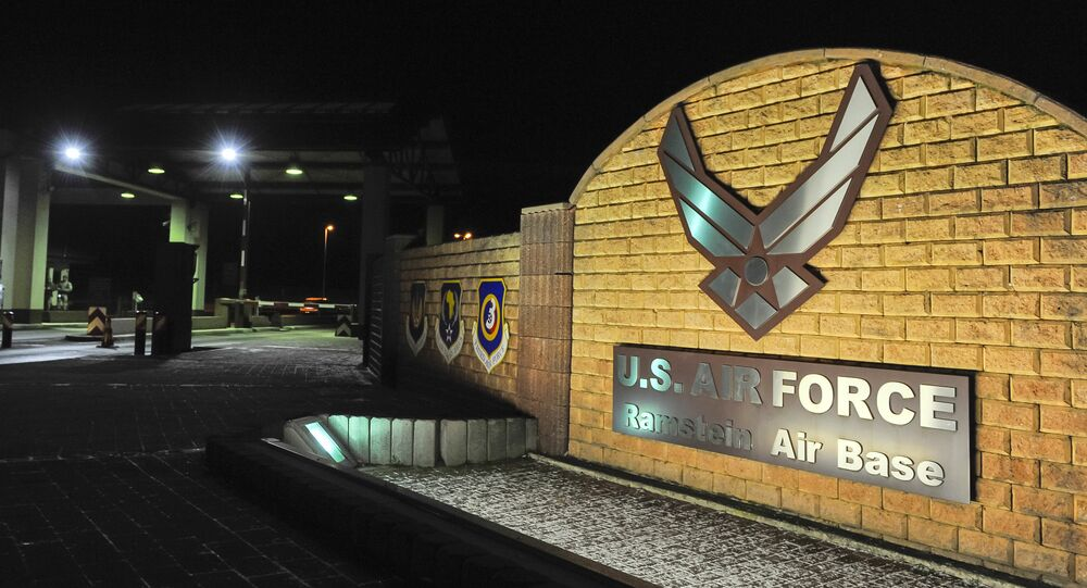 Logo at the entrance of the US Air base in Ramstein (File)