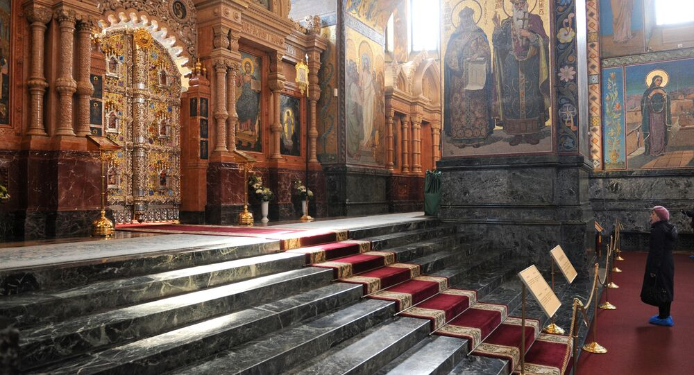 Royal gate in the church of Christ's Resurrection (Savior on Blood) is back in place after eight years of restoration work