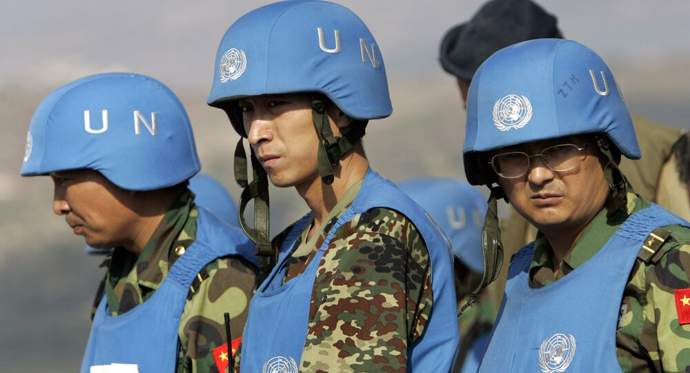 United Nations peacekeeping officers from China (File)