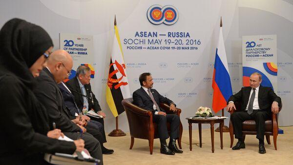 Russian President Vladimir Putin's bilateral meeting with Sultan Hassanal Bolkiah of Brunei Darussalam - Sputnik International
