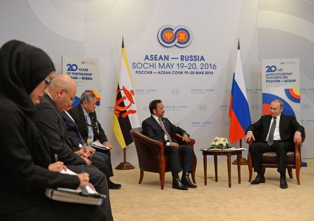 Russian President Vladimir Putin's bilateral meeting with Sultan Hassanal Bolkiah of Brunei Darussalam