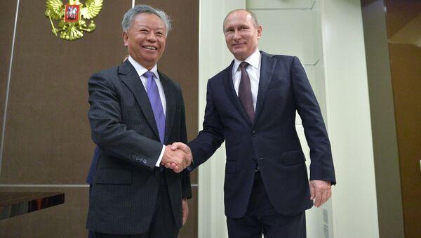 President Vladimir Putin's meeting with President of Asian Infrastructure Investment Bank Jin Liqun - Sputnik International