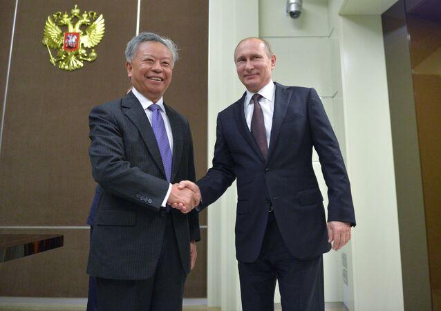 President Vladimir Putin's meeting with President of Asian Infrastructure Investment Bank Jin Liqun