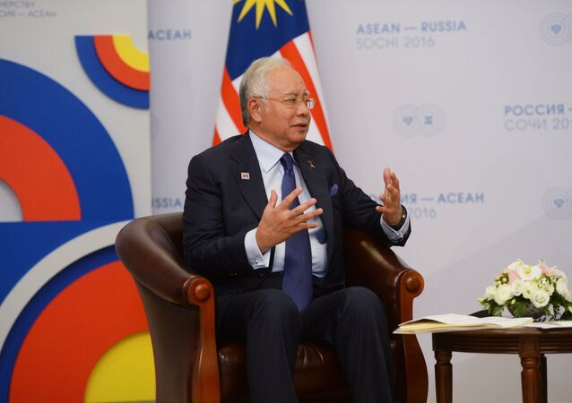 19 May 2016. Prime Minister of Malaysia Najib Tun Razak during a bilateral meeting with Russian President Vladimir Putin at Radisson Blu Resort & Congress Centre in Sochi
