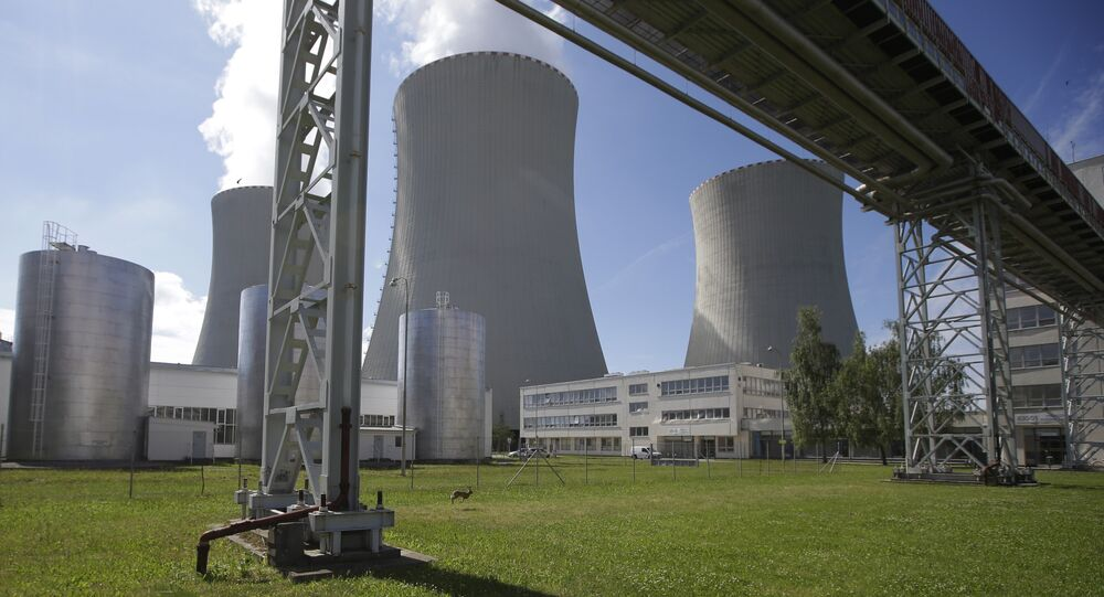 Smoke rises from cooling towers of the nuclear power plant Temelin near the town of Tyn nad Vltavou, Czech Republic (File)