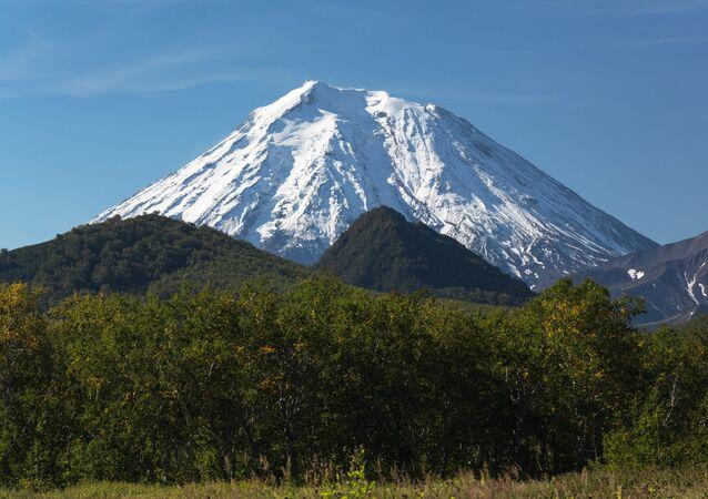 The Koryaksky volcano in the Volcanoes of Kamchatka nature park, the Nalychevo nature park cluster.
