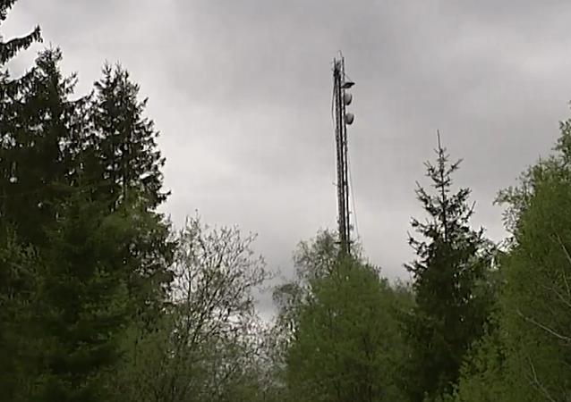 Radio mast in Borås