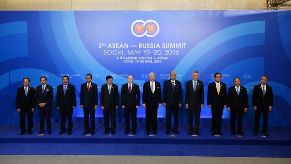 Photo session of the delegation heads - ASEAN-Russia Summit participants at the Radisson Blu Resort & Congress Centre in Sochi - Sputnik International