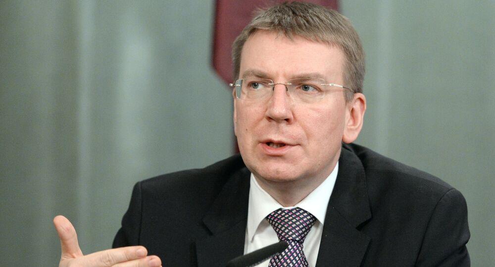 Latvian Foreign Affairs Minister Edgars Rinkevics
