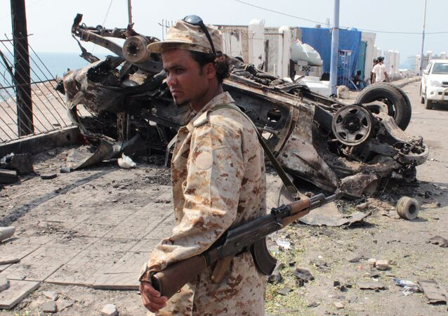 A member of the Yemeni security forces (file)