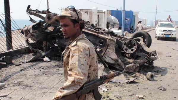 A member of the Yemeni security forces (file) - Sputnik International