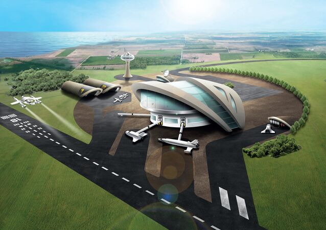 Artist impression of Newquay potential Spaceport