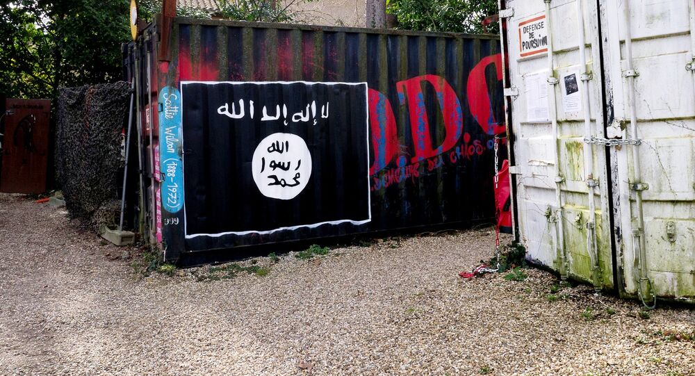 A Daesh flag