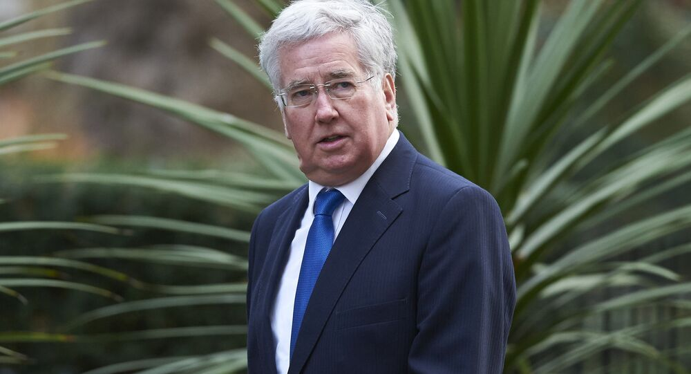 British Defence Secretary Michael Fallon arrives at Downing Street in London on February 20 , 2016 for a meeting of the cabinet following Prime Minister David Cameron's return from EU negotiations in Brussels