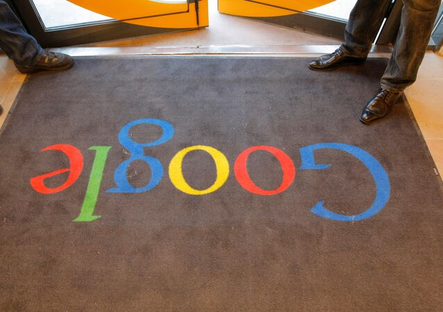 A Google carpet is seen at the entrance of the new headquarters of Google France before its official inauguration in Paris, France. (File)