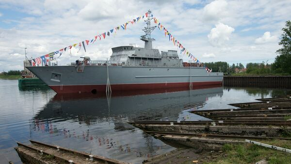 The Alexander Obukhov minesweeper lead ship floated out - Sputnik International
