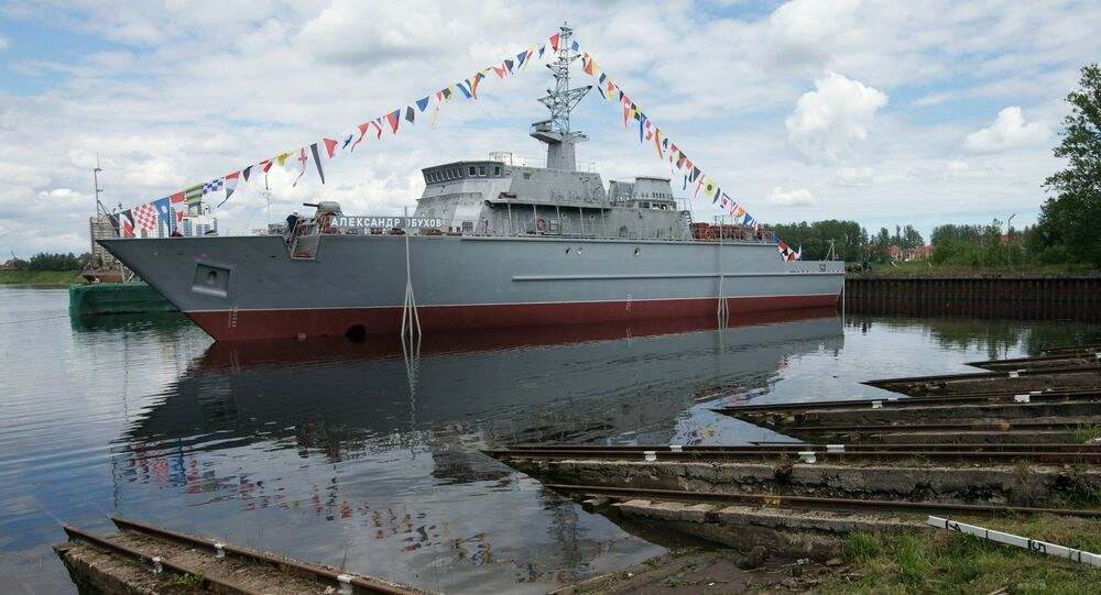 The Alexander Obukhov minesweeper lead ship floated out