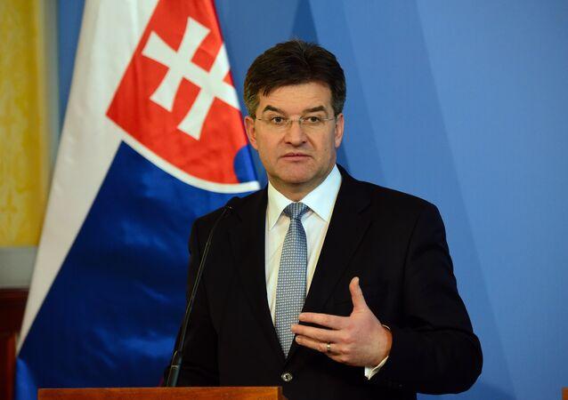 Slovakian Foreign Minister Miroslav Lajcak
