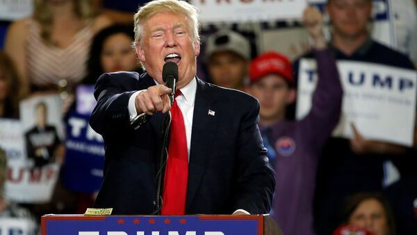 Republican U.S. presidential candidate Donald Trump holds a rally with supporters in Albuquerque, New Mexico, U.S., May 24, 2016 - Sputnik International