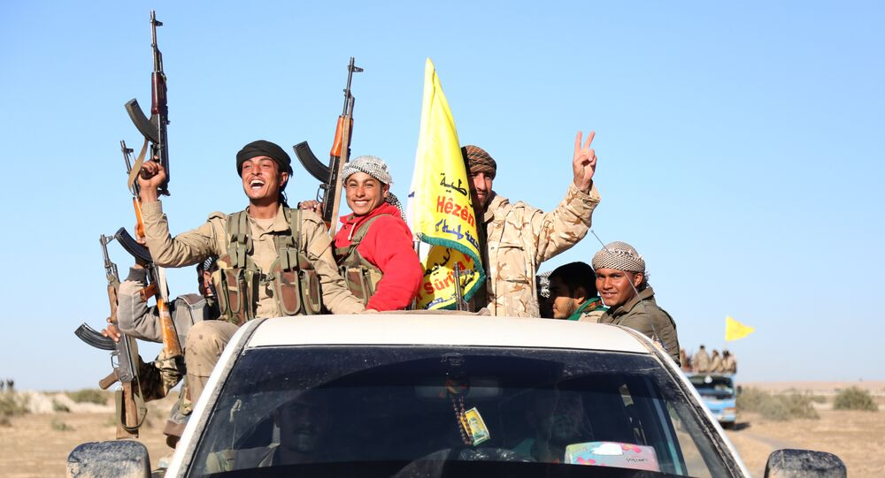 Fighters from the Syrian Democratic Forces (SDF) (File)