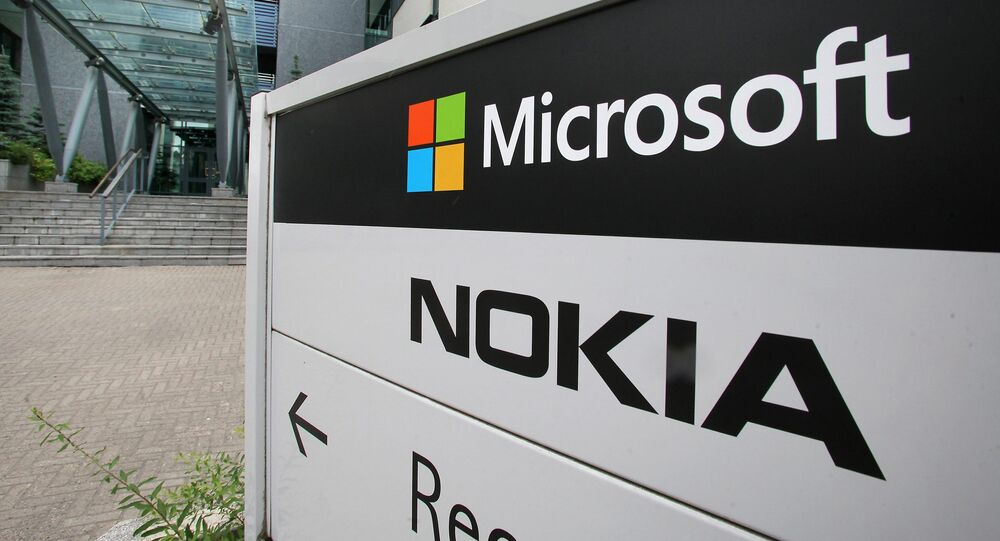 A view of Microsoft and Nokia signs in Peltola, Oulu, Finland (File)