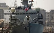 Britain's Royal Navy warship HMS Westminster sits docked in Gibraltar, Monday, Aug. 19, 2013