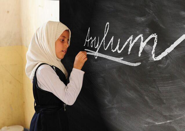 Writing on a school board