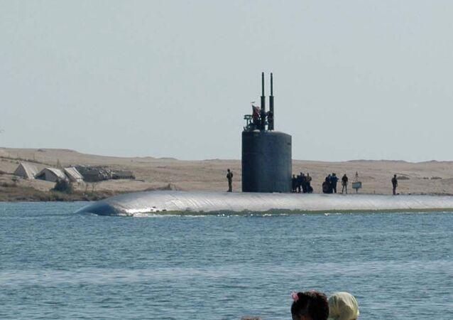 The attack submarine USS Alexandria (SSN-757).