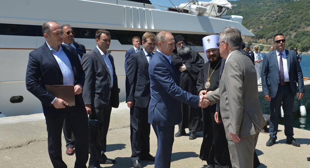 Russian President Putin Visits Mount Athos