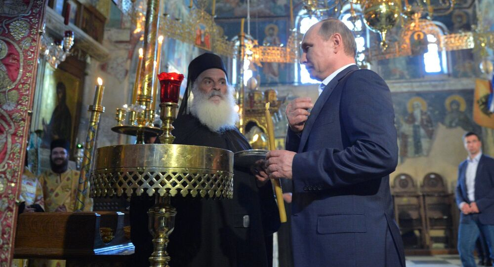 May 28, 2016. Russian President Vladimir Putin visits Mount Athos