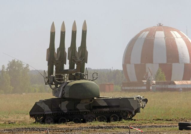 Russian Buk-M2 air defense system is displayed at a military show at the international forum Technologies in machine building 2010 in Zhukovsky, outside Moscow.