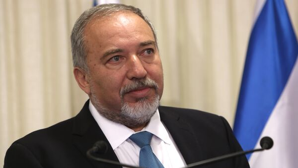 Avigdor Lieberman, the head of hardline nationalist party Yisrael Beitenu, is seen during a ceremony in which he signed a coalition agreement with the Israeli prime minister at the Knesset, the Israeli parliament in Jerusalem - Sputnik International