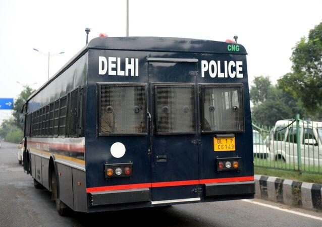 An Indian police van. (File)