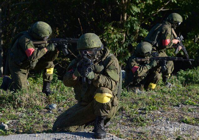 Drill of  anti-terrorist forces