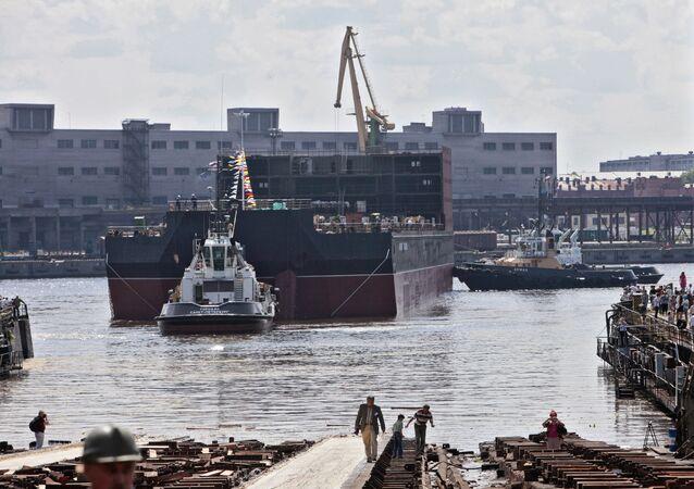 Launching of Academician Lomonosov Floating Nuclear Power Plant Unit at Baltiysky Zavod Shipyard