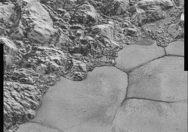 One section of the new Pluto images.