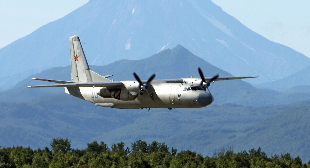 The Antonov An-26 twin-engined light turboprop transport aircraft