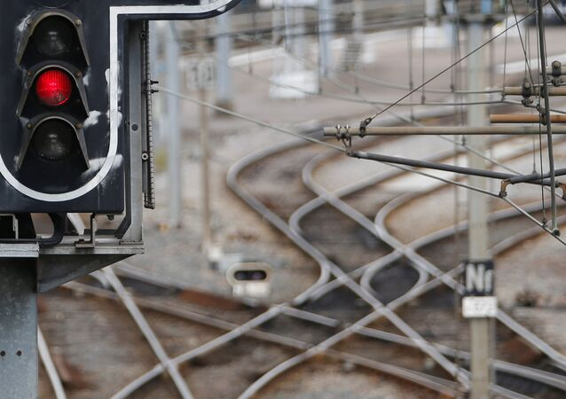 French state-owned railway company SNCF tracks are seen in Nantes, France, May 31, 2016 as railway workers will start a national railway strike on Tuesday evening.
